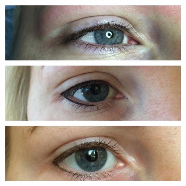 kosmetisk tatuering eyeliner bilder